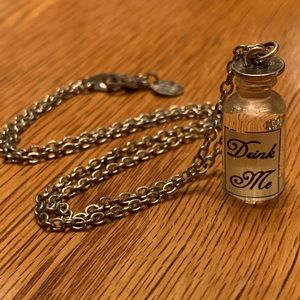 """Claire's """"Drink Me"""" Alice in Wonderland Necklace"""